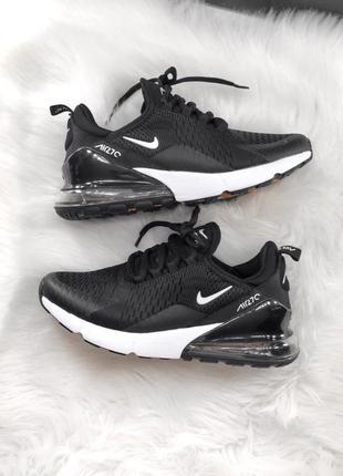 Шикарные женские кроссовки  nike 270 black