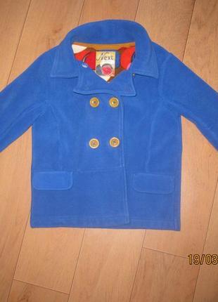 Весеннее детское пальто пиджак next для девочки 8 лет