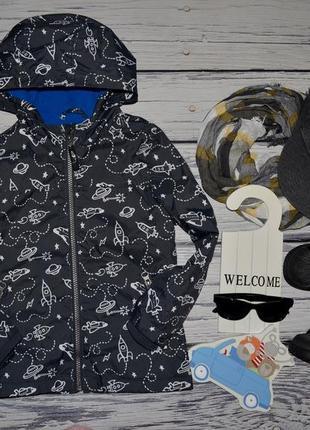 3 - 4 года 104 см фирменная очень крутая яркая куртка ветровка стильному мальчику космос