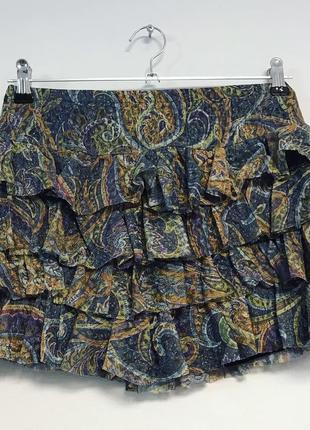 Многослойная гипюровая юбка