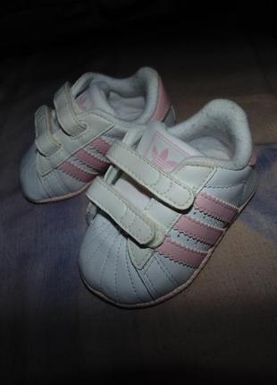 Кеды кроссовки пинетки adidas superstar кожа новые