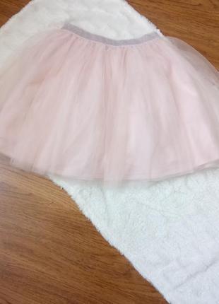 Шикарная пудровая юбка из фатина от mohito