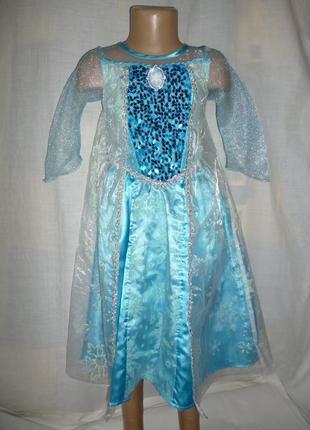 Платье эльзы на 4-5 лет