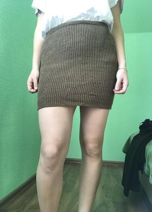 Вязаная мини юбка only