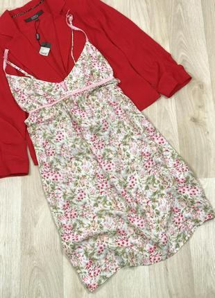 Платье ночнушка вискоза в цветы oggi