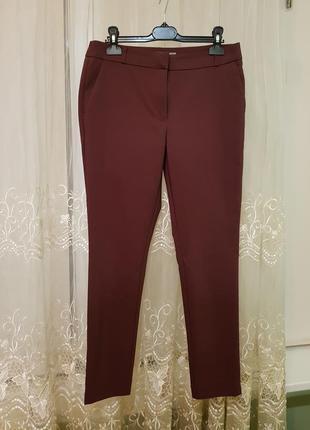 Укороченные штаны befree цвета марсала