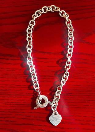 Return to tiffany™ цепочка с подвеской в форме сердца и замком-тогглом