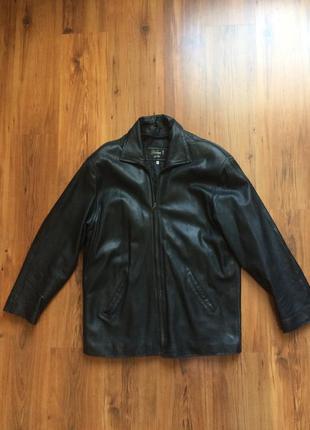 Кожаная куртка мужская на синтепоне