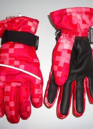 Яркие термо-перчатки на 8-10 лет. тинсулейт 40гр. crivit