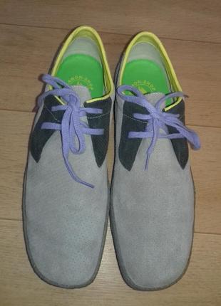 Туфли-мокасины замшевые clarks 28 см