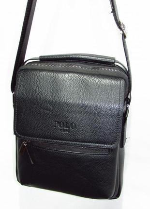 Мужская сумка из кожзама 3022-3 черная