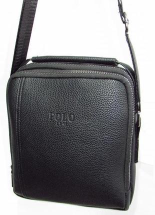 Мужская сумка на два отделения 3027-2 черная