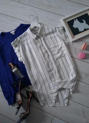 Стильная вискозная блуза с карманом