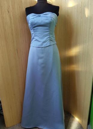 Длинное вечернее платье бюстье alfred angelo
