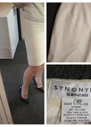 Стильная шерстяная юбка карандаш миди, франция, synonyme, p. 36-38