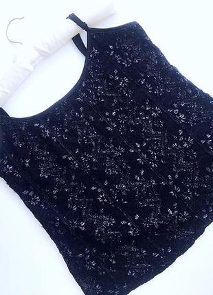 Нежный кружевной комплект майка и болеро-блузка черного цвета бренд marks a spencer8
