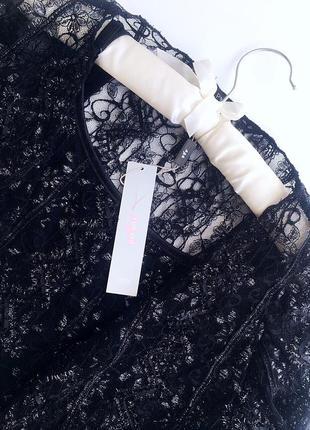 Нежный кружевной комплект майка и болеро-блузка черного цвета бренд marks a spencer9