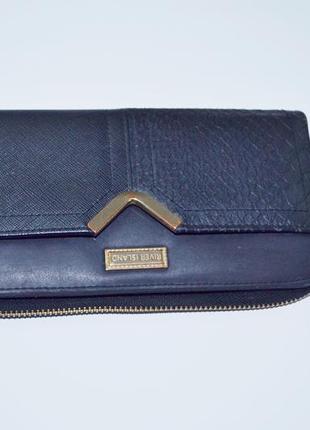 Клатч портмоне черный женский гаманець кошелек river island