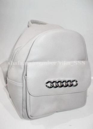 Рюкзак в городском стиле 8614 светло-серый