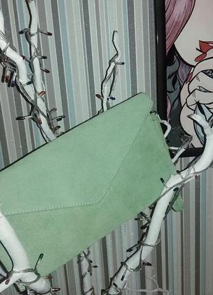 Клатч-конверт, клаич-барсетка натуральная замша италия
