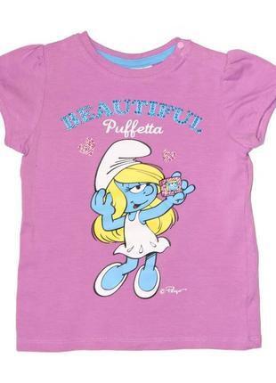 Новая фиолетовая футболка с принтом, ovs kids, 240613