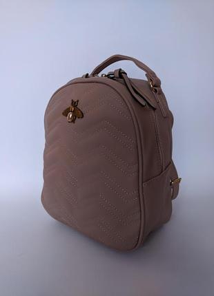 Стильный новый женский рюкзак цвет пудра