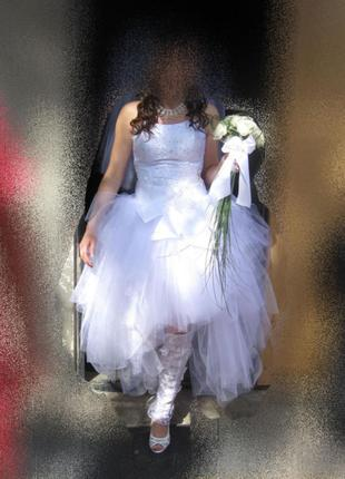Свадебное платье (костюм) на стройную невесту