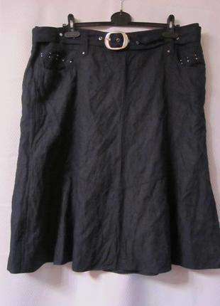Темно-синяя юбка с карманами gerry weber