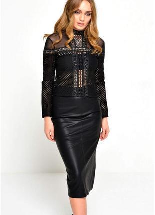 Шикарная черная брендовая  блуза гольф  топ бренда glamorous, размер 10