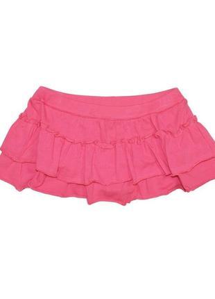 Новая розовая юбочка с оборками для девочки, ovs kids, 6149092