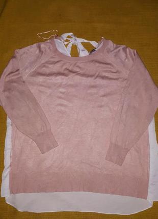 Блуза -свитер реглан вискоза р.48/4xl/56