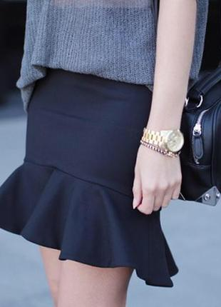 Стильная юбочка с баской ,размер м