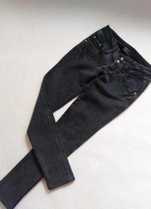Модные джинсы темно серые
