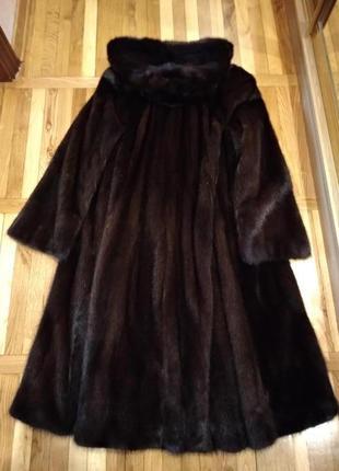Норковая шуба клеш длинная крутая богатая распродаю гардероб