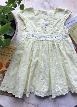 Нежное платье mothercare на 6-9 мес