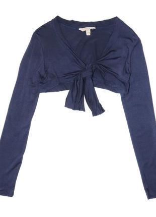 Новое синее болеро на завязку для девочки, ovs kids, 760001