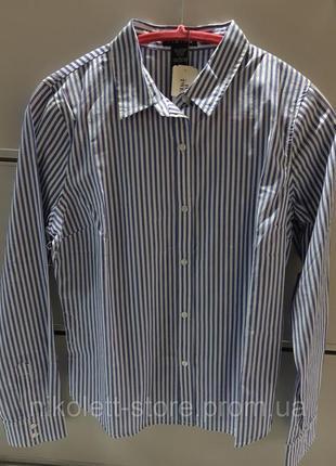 Рубашка женская длинный рукав в полоску