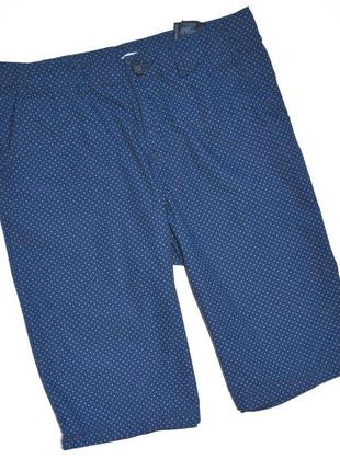 H&m. шорты бермуды синие в точку. 11-12 лет. рост 146-152 см.