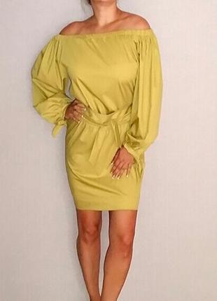 Прямое платье миди с поясом piena 48-50 размер
