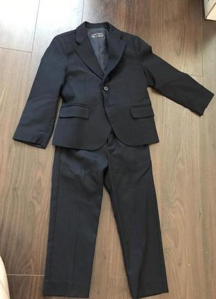 Стильный классический костюм zara 3-4 года 104 см.