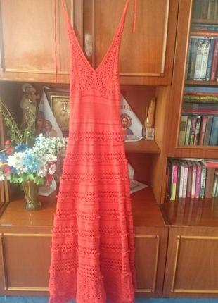 Длинное вязаное платье виктория сикрет