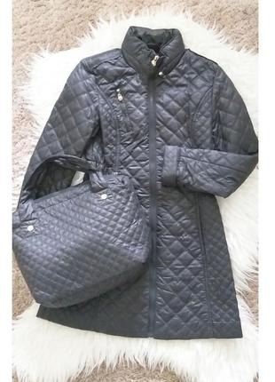 Утепленный плащ с сумочкой от американского бренда laundry by chelli segal xs/s