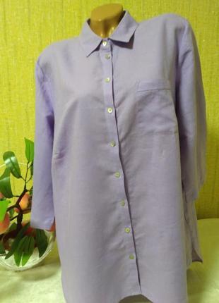 Новая рубашка с биркой, лен /коттон