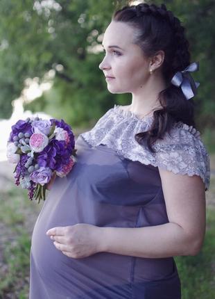 Будуарное платье для беременных фотосессий