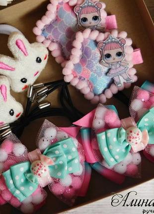 Набор детских украшений для волос с lol в коробочке