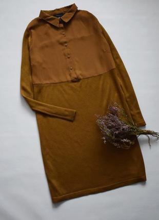 Горчичное платье - рубашка
