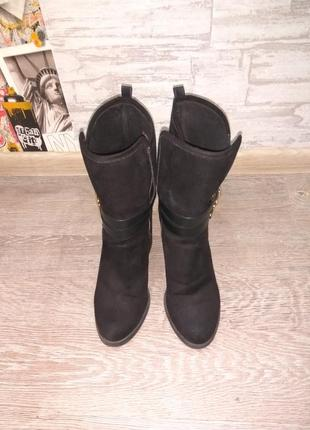 Ботинки,полусапожки широкий каблук2 фото