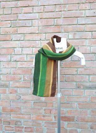 Шерстяной шарф двухслойный полосатый