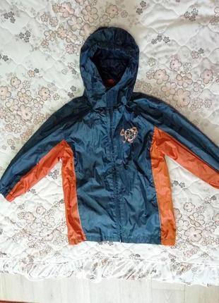 Куртка ветровка дождевик с капюшоном на подкладке x-mail на 6-7лет 116-122см