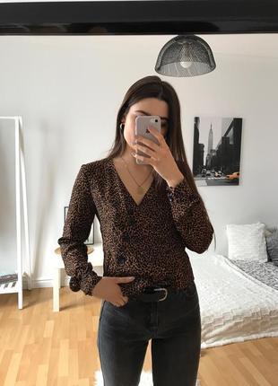 📎 блуза леопардовая bershka2 фото